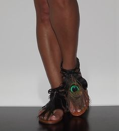 MY NEW SHOES! Womens Roman Gladiator Summer Sandals Flats Thongs Black Feather Neway Fawn