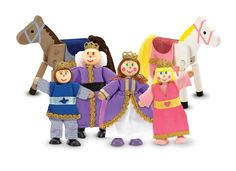 Melissa & Doug Royal Family Wooden Doll Set $20