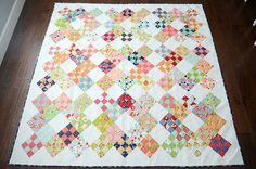 nine patch modern quilt - Google Search