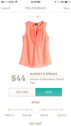 Market & Spruce Jenson - This would look perfect with my light wash skinny jeans, and the tan Diba sandals I asked for!