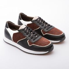 8e06810bd5eb51 Christian - Brick & Brown - Embsosed Calf Nubuck & Leather - BUB Leather  Shoes Vans