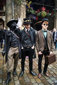 steampunk bad boys by Dr Gauss... Josiah likes the outfit with the Venetian mask