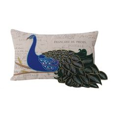Shop for Thro by Marlo Lorenz Postcard Print 12x20 Peacock Throw Pillow. Free Shipping on orders over $45 at Overstock.com - Your Online Home Decor Outlet Store! Get 5% in rewards with Club O!