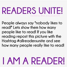 Repost if you're a reader! #allreadersunite
