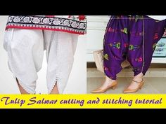 Tulip salwar cutting and stitching - YouTube