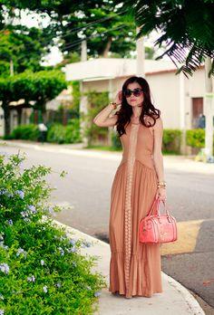 Blog da Lê-Moda e Estílo: Look - Longo Nude