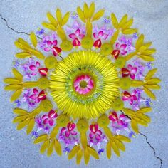 Mandala (meaning 'circle') is a spiritual and ritual symbol in hinduism and buddhism, representing the universe. the basic form of most mandalas is a square Mandala Art, Mandalas Painting, Mandalas Drawing, Flower Mandala, Flower Art, Flower Circle, Flower Petals, Mandala Meaning, Arte Floral