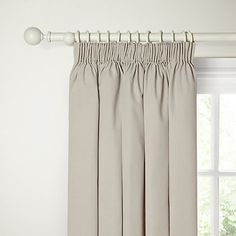 Buy Putty John Lewis Cotton Rib Lined Pencil Pleat Curtains from our Ready Made Curtains & Voiles range at John Lewis. Lounge Curtains, Pleated Curtains, Panel Curtains, Pencil Pleat, Curtain Poles, Bedroom Themes, John Lewis, Home And Garden, Living Room