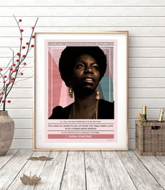 Nina Simone ref.02  Collage quote music soul jazz by SoulArtCorner