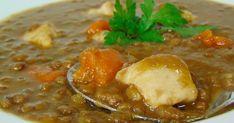 Ricas lentejas estofadas con todo el sabor. Un delicioso plato para disfrutar de las sanas legumbres