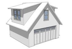 Gable Roof with Shed Dormer A shed dormer is a popular addition because it extends living space with height and width. A shed dormer's eave line is parallel to the eave line of the roof. Here, the ...