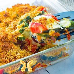 Tomato Zucchini Mozzarella Bake - No Plate Like Home Delicious Tomato Zucchini Mozzarella Bake is made with zucchini, tomatoes, mozzarella cheese, parsley, Italian bread crumbs and Panko bread crumbs! It's easy-to-make and the perfect summer side dish. Use up garden zucchini and tomatoes with this delicious side dish or vegetarian meal! #vegetarian<br> Zucchini Tomato, Tomato Mozzarella, Fried Eggplant Recipes, Classic Italian Dishes, Zucchini Casserole, Summer Side Dishes, Vegetable Recipes, Panko Bread, Italian Bread