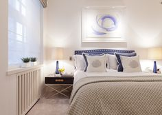 Luxury hotel standard apartment - bedroom interiors. © Taylor Howes Designs