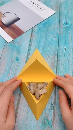Everybody knows about origami, the Japanese art of paper folding. But what is it that can make origami so magical, … Diy Crafts Hacks, Diy Crafts For Gifts, Diy Arts And Crafts, Creative Crafts, Handmade Crafts, Creative Ideas, Cool Paper Crafts, Diy Paper, Fun Crafts