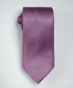 Purple Square and Stripe Print Silk Tie #Tie #Men #Accessories