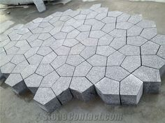 Grey Granite Special Shape Paving Stone, G603 Grey Granite Paving Stone, Flagstone Road Paving