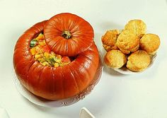 Dinner In A Pumpkin... I serve this the Sunday before every Halloween. Delicious and always a hit!