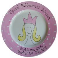 Hand Painted & Personalised Bridesmaid or Flower Girl Plate   The Bridal Gift Box   Wedding & Bridal Gifts