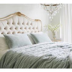 Plushious Velvet Bedspread in Duck Egg | Blue Velvet Throw