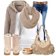 Winter jean outfit...love it!