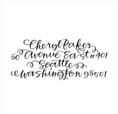 Calligraphy font!