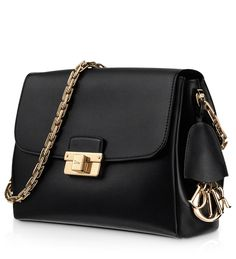 DIORLING - Small black leather Diorling bag - Adore.