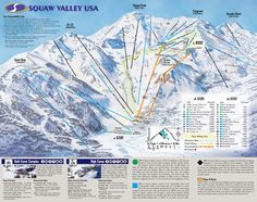 Squaw Valley Ski Resort - Home of the 1960 Winter Olympics. If you can see it you can ski it! California Ski Resorts, Tahoe Ski Resorts, Best Ski Resorts, California Travel, Ski Vacation, Vacation Spots, Lake Tahoe Map, Donner Lake, Cards