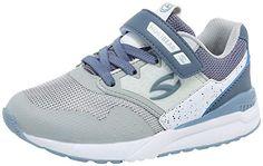 BODATU Boys Girls Sneakers Hook and Loop Kids Sports Running Shoes Comfortable Lightweight
