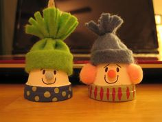 cute flower pot snowmen