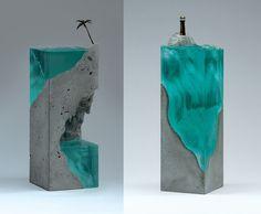 Kunstwerke wie kleine würfelförmige Stücke der realen Welt