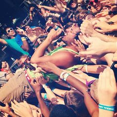 Young the Giant -  he did this at the show last night :-)