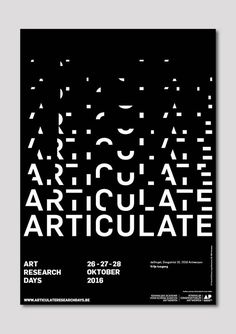 Articulate Poster, 2016 by Zoë Kerckhof & Anaïs Cuillier:
