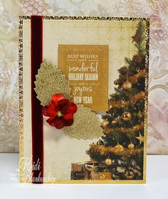 The Stamp Simply Ribbon Store - 12 Days of CAS Christmas - Best Wishes Christmas Card.