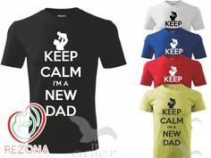 Mantenga calma soy un nuevo papá. Día de las padres. por Rezona