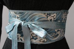 Hey, I found this really awesome Etsy listing at https://www.etsy.com/listing/193786391/luxe-ice-blue-dupioni-silk-obi-belt