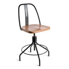 Sputnik High-Back Chair - Black/Natural - Environment