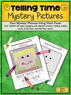 Telling Time on an analog clock is a challenge for students from first grade on! My 6th graders can even be challenged by it! This prompted me to create mystery pictures that would allow my students to practice reading analog clocks! Come and check out this unique and engaging format! ($)