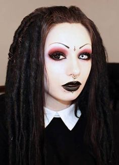 toxic tears gothic red and black makeup youtube tutorial