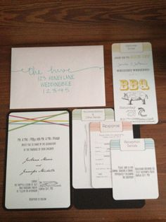 Signed, Sealed, and Delivered :  wedding diy invitations stationery wichita Invitation Suite invitation-suite