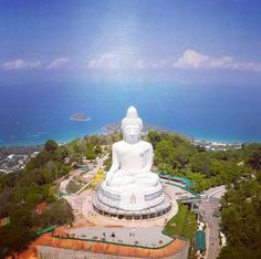 Big Buddha, Phuket, Thailand. Big Buddha, a 45 meter tall white marble statue, is visible from anywhere in the southern part of Phuket. It might not be my favourite attraction on the island, but the views from up there are definitely breathtaking.