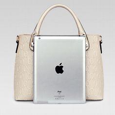 Lingge pu leather leisure handbag