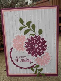 Hand stamped birthday card by Julie S. using the Be Blessed set from Verve. #vervestamps