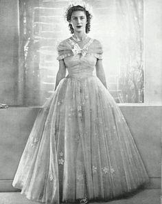 Princess Margaret as a bridesmaid at Queen Elizabeth's wedding ( when she was Princess Elizabeth)