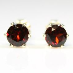 925 Sterling Silver Red Garnet stud #earrings Mother's Day #jewelry sale only $28.99 on #Etsy gift for mom