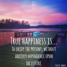 True happiness is...