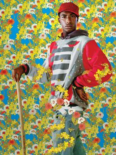 "Kehinde Wiley (American, b. After Sir Anthony Van Dyck's ""La Roi A La Chasse"" (from Black Light series), Archival inkjet print on Hahnemühle fine art paper, 30 x in. Edition of 6 Anthony Van Dyck, Sir Anthony, Henry Miller, African American Artist, American Artists, Pop Art, Kehinde Wiley, Bokashi, Jenny Saville"