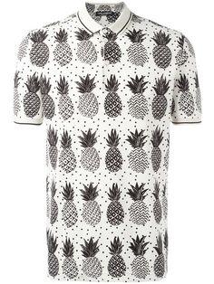 Dolce   Gabbana Polo Con Motivo De Piñas - Farfetch a8ad7ff7231