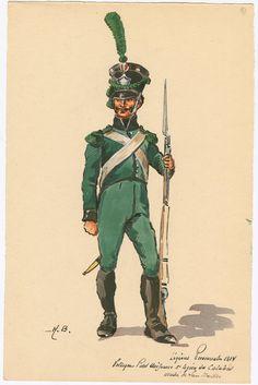 Naples; Provincial Legions, 2nd Legion Calabria, Voltigeur, Petite Tenue, 1814