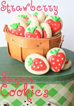 Strawberry Cookies - perfect for a summer picnic theme!