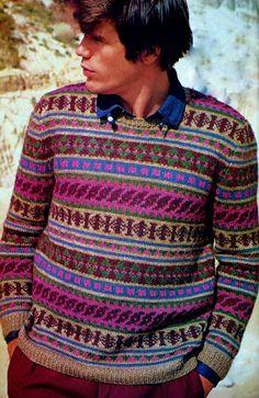 Men's Fair Isle Pullover Vintage Knitting Pattern Download
